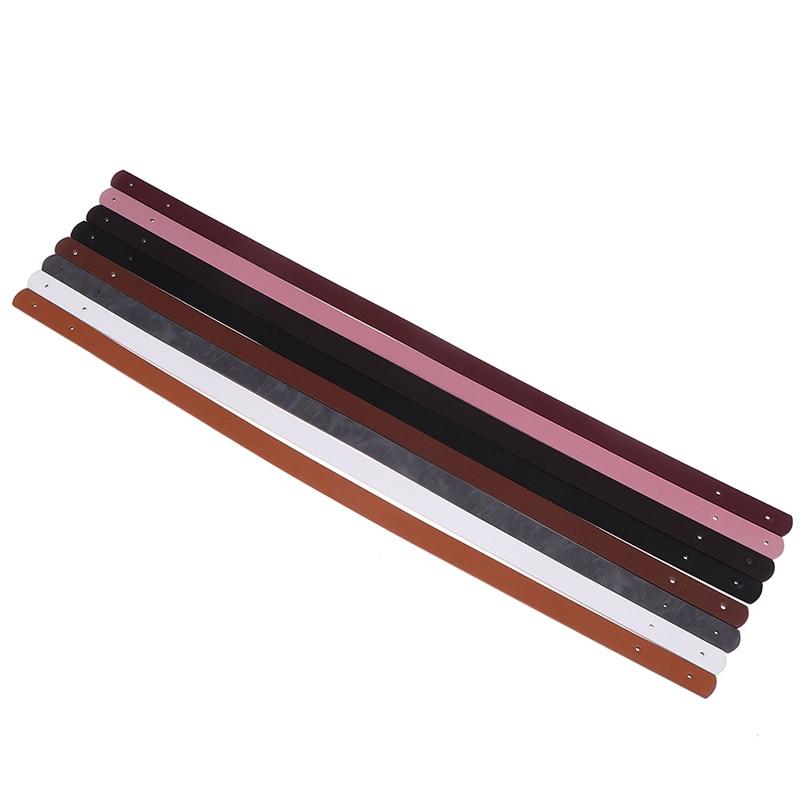 2 Pcs Handbag Band Handle Strap Band With Rivet Bag Belt Lady Shoulder Bag Replacement Accessories Detachable PU Leather Handle