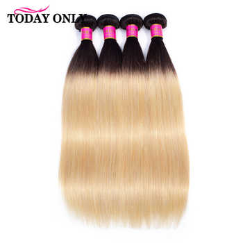 TODAY ONLY 1/3/4 Bundles Blonde Straight Hair Bundles Ombre Human Hair Bundles 1b 27 Brazilian Hair Weave Bundles Remy 8-26 Inch - DISCOUNT ITEM  58% OFF All Category