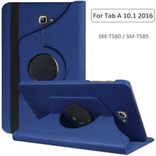 360 caso rotativo para samsung galaxy tab um 10.1 2016 t580 t585 suporte capa de couro do plutônio para samsung tab a6 10.1 SM-T580N t585