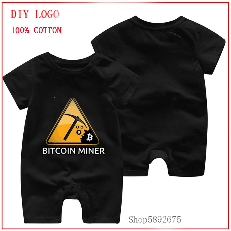 Cottons Summer Interesting Bitcoin infant baby boys clothes short sleeve rompers Onesie Print newborn baby body clothes for baby 1