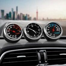 Mini horloge numérique pour voiture, thermomètre et hygromètre, ornement décoratif, accessoires Automobiles