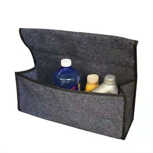 Image 5 - 1pc Car Trunk Organizer Storage Box Bag Foldable Soft Felt Auto Car Boot Organizer Travel Tools Stowing Tidying Container Box