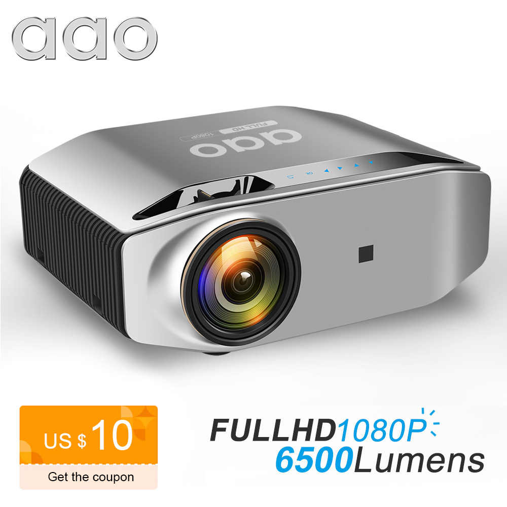 AAO Asli 1080P Full HD Proyektor YG620 LED Projector 1920X1080P 3D Video YG621 WiFi Nirkabel Multi layar Proyektor Home Theater