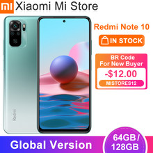 Versão global xiaomi redmi nota 10 móvel 4gb ram 64/128gb rom snapdragon 678 octa núcleo 5000mah bateria 33w carga rápida