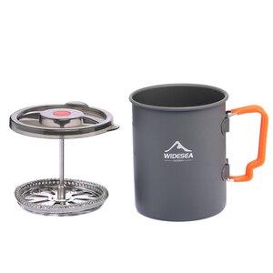 Image 4 - Widesea קמפינג קפה סיר עם צרפתית עיתונות חיצוני כוס ספל כלי בישול לטיולים טרקים