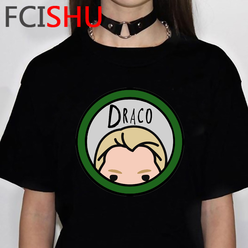 Draco Malfoy Harajuku Funny Cartoon Aesthetic T-shirt Women Ullzang Cute Anime 90s Tshirt Graphic Grunge T Shirt Top Tees Female
