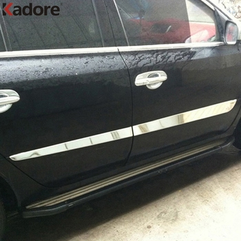 For Renault Koleos 2008 2009 2010 2011 2012 2013 Stainless Steel Auto Accessories Side Door Body Moulding Sills Cover Trims