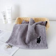 Мультяшный любимец кошка хлопчатобумажные полотенца для лица подарок для пары розовый серый утепленное полотенце ванная комната свежий здоровый супер абсорбент для полотенца для взрослых