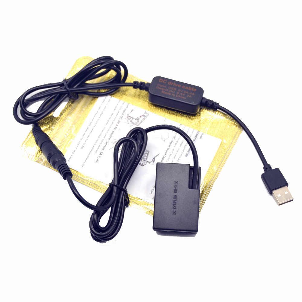 Cable cargador USB DSLR + batería simulada LP-E17 para Canon EOS 750D Kiss X8i T6i 760D T6S 77D 800D 200D Rebel SL2