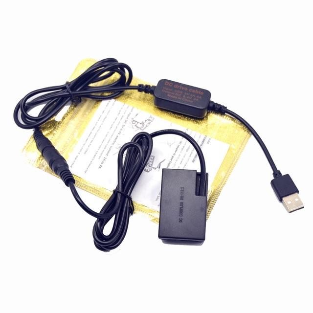 DSLR USB Charger Power bank Cable+LP E17 DR E18 Dummy battery for Canon EOS 750D Kiss X8i T6i 760D T6S 77D 800D 200D Rebel SL2