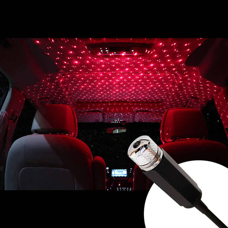 Car USB Star Ceiling Light Car Roof Lights USB Night Light Romantic Atmosphere Christmas decoration new year gift light
