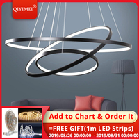 Black white frame led pendant lights for the kitchen dining room modern Hanging Lamps abajour lighting lustre indoor fixtures