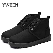 YWEEN Classic Women Winter Boots Suede Ankle Snow Boots Female Warm Plush Insole High Quality Botas Mujer Lace Up Shoes Women women boots high quality classic lace up women winter diamond thick soled boots ankle snow boots female warm fur plush insole
