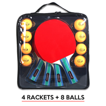 Table-Tennis-Racket-Set Ping-Pong-Paddle 8-Balls with Bag 2-Pair Sports-Equipment Professional