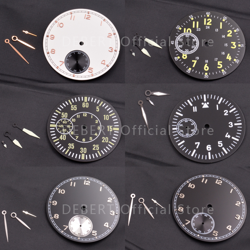 Watch Parts Sterile Dial Watch Needle Hands Various Styles Of Dials Hands Fit Hand Winding 3600/6497/6498 Movement And Case