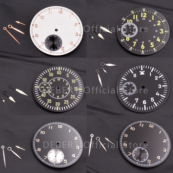 watch parts Sterile dial Watch needle hands Various styles of dials hands Fit hand winding 3600/6497/6498 movement and case new 45mm polished stainless steel case high quality hardened mineral glass fit 6497 6498 st 36 molnija movement watch case