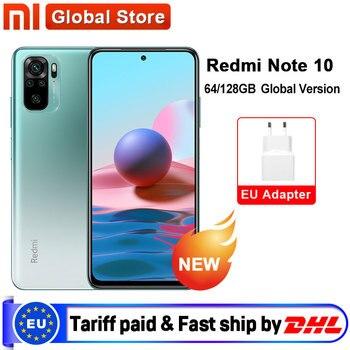In Stock Global Version Xiaomi Redmi Note 10 4GB  RAM 64GB/128GB Smartphone Snapdragon 678 33W  AMOLED Display 48MP Quad Camera