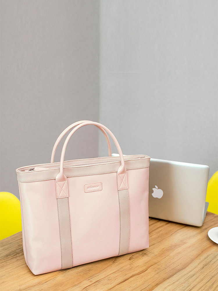 Portable File Bag A4 Women Bag Waterproof Briefcase Men Women Handbag Business Office Meeting Bag Information Computer Bag