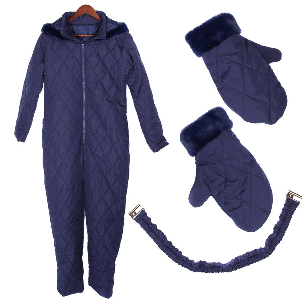 Women Winter Warm Snowsuit Outdoor Sports Pants Ski Suit Waterproof Jumpsuit -OPK