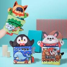 Livre en tissu doux pour bébé, marionnette à main, nouveau-né, apprentissage précoce, développement de la lecture, jouets de Puzzle, livres silencieux pour enfants