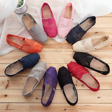 Women Flat Shoes New Arrivals High Quality Canvas Fashion Women Flats Comfortable Loafers Shoes Size 36-41 недорого