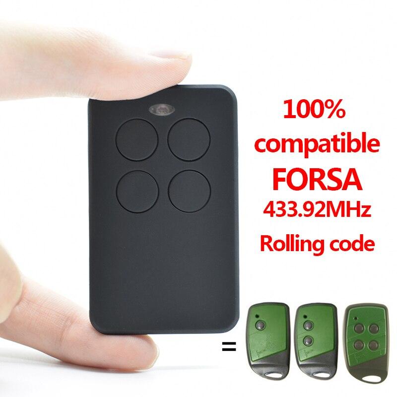 FORSA Garage Door Remote Control Compatible With FORSA TR-1, FORSA TR-2, FORSA TR-4 Transmitter 433.92MHz Rolling Code
