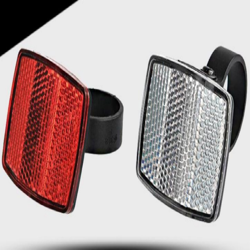2019 Hot Sale Handlebar Mount Safe Reflector Bicycle Bike Accessories Front Rear Warning Red / White Bicycle Bike Light Rower