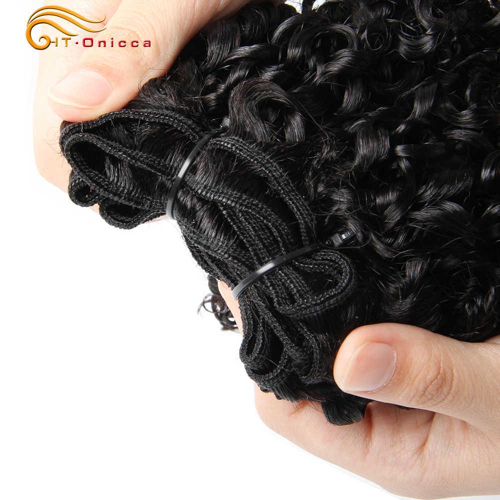 Brazilian Hair Bundles Human Hair Extensions Flexi Pissy Curls Pixie Curly 6 Bundles Double Drawn Human Hair For Black Women
