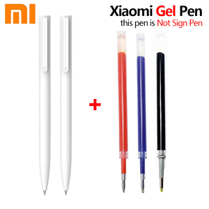 Original Xiaomi Mi Gel Pen MI Pen 9.5mm No Cap Bullet Pen Black Pen PREMEC Smooth Switzerland Refill MiKuni Japan
