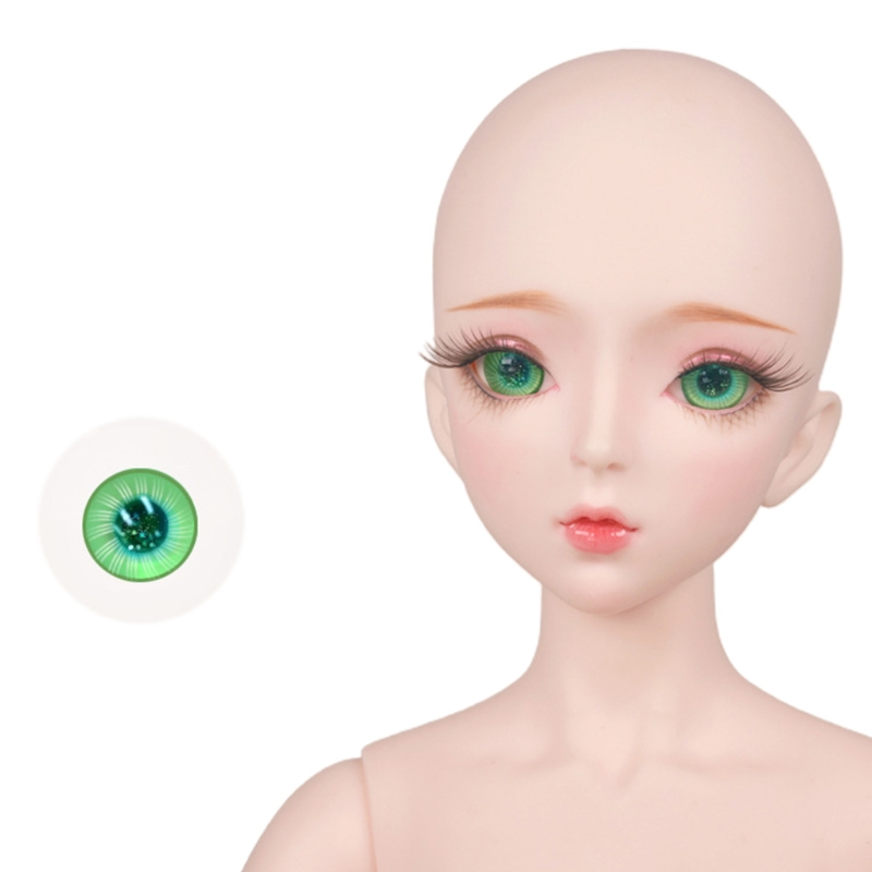 For Bjd Eyeball 14mm Glass Material Green Blue Eyes Suitable For 1/3 1/4 Doll Accessories 9
