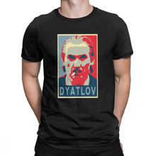 Tyburn Anatoly Dyatlov Hoop Poster Tsjernobyl T-Shirts voor Mannen Vintage Cotton Crew Neck Korte Mouw T-shirt Idee Kleding(China)
