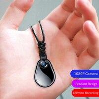 Pequeño 1080P Micro Cam secreto portátil Mini cámara Espia Video y sonido de cuerpo Cam deporte collar de Clip apoyo escondido tarjeta TF