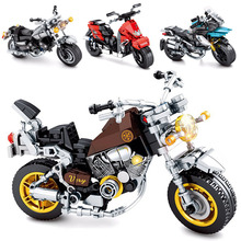 Building Blocks Technic Motorcycle City Moto Racing Motorbike Vehicles Bricks Toys Gifts For Children