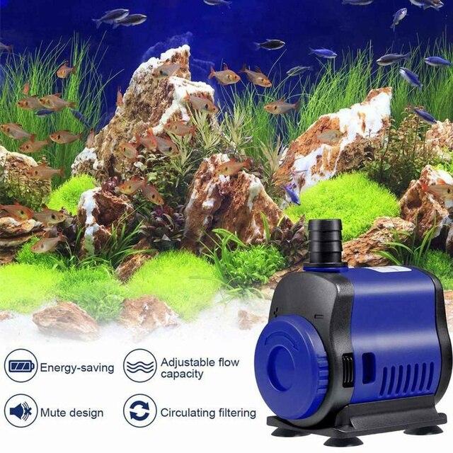5W 14W 20W 35W 45W Ultra-Quiet Submersible Water Fountain Pump Filter - Fish Pond - Aquarium Water Pump  5