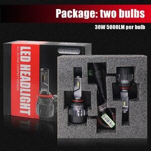 Image 4 - BraveWay CSP Chip Headlight Bulbs H4 H7 H8 H9 H11 LED Lamps for Car 12V 9005 HB3 9006 HB4 9012 HIR2 H4 Led Bulbs for Motorcycle