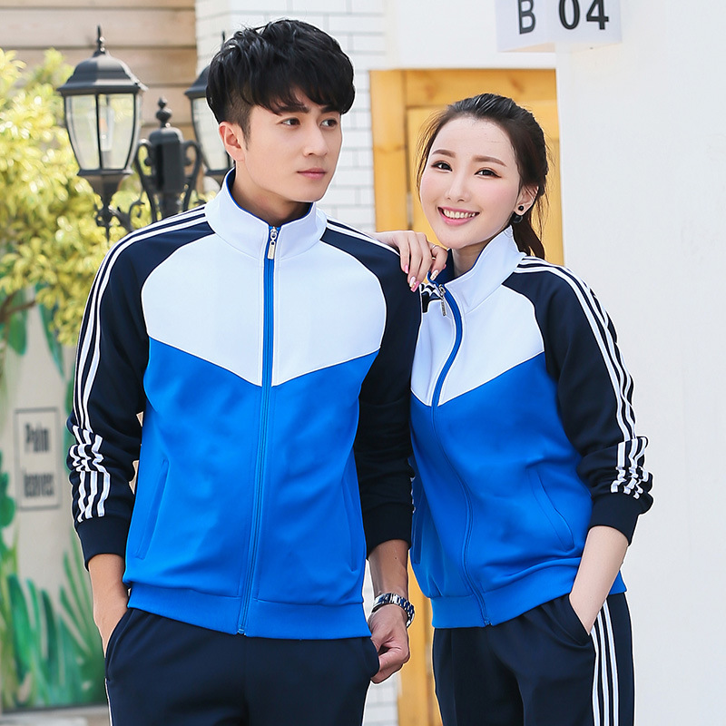 Spring And Autumn Couples Sports Clothing Parent And Child Set Long Sleeve Mixed Colors Men And Women Children Primary School ST