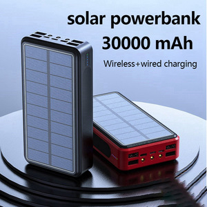 Image 2 - Wireless Power Bank  30000 mAh Solar Powerbank  4 USB Portable External Battery Charger Pack For Xiaomi Mi 3 iPhone PoverBank