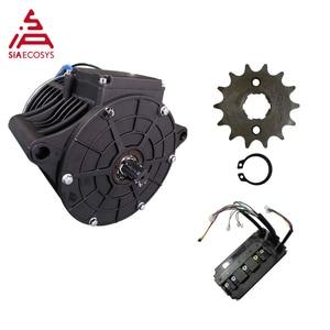 QS MOTOR 138 3000W new version mid drive motor sprocket 428 and EM150SP controller for electric motorbike Z6 100KPH 72V