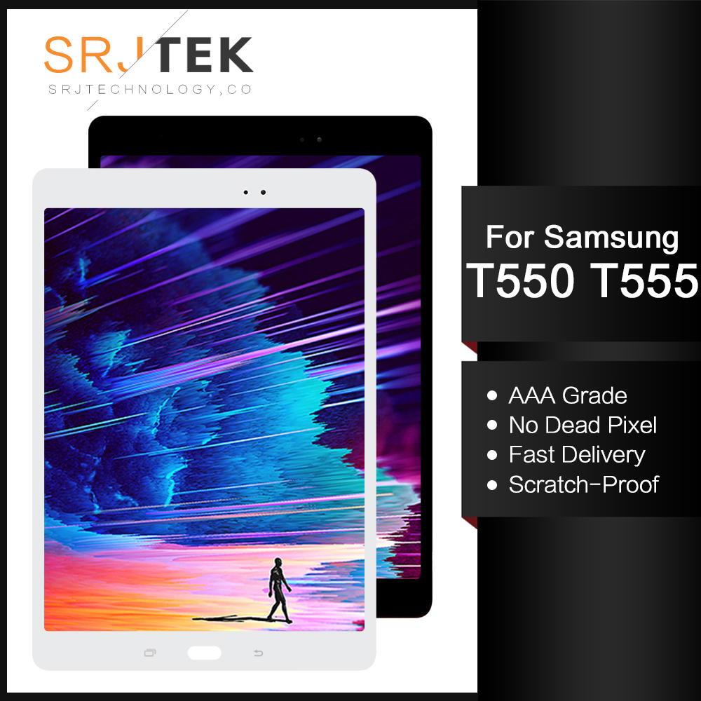 "Srjtek 9.7"" For Samsung Galaxy Tab A 9.7 SM-T550 SM-T555 T550 T551 T555 LCD Display Matrix Touch Screen Digitizer Full Assembly"
