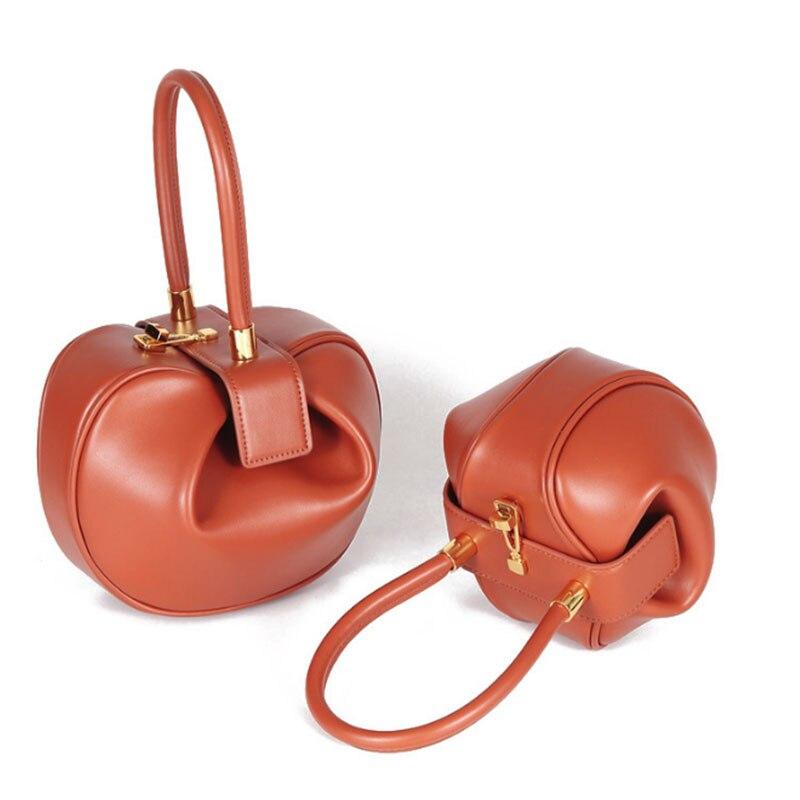 Bolsas para as Mulheres de Alta Bolsa das Senhoras Bolsa de Ombro Moda Couro Genuíno Suave Bolinho Hobo Crossbody Qualidade Retro Portátil Bolsa