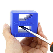 цена на 1PC Magnetizer Demagnetizer Tool Screwdriver Bench Tips Bits Gadget Handy Magnetized Driver Quick Magnetic Degaussing Household
