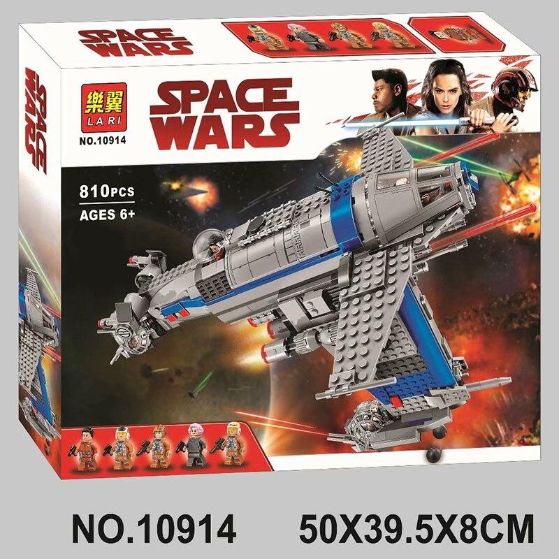2019 NEW Bela 10914 810Pcs Star Wars series Resistance Bomber Building Blocks Bricks Kids Friends Toys Christmas gift 75188