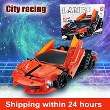 High End Hot Wheels Toy Car Blocks Bricks Assembled Pull Back Racing Car Fast and Furious Formula Model Car For Kids Gift