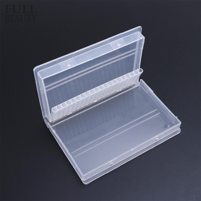 Full Beauty 20 Slots Storage Box For Nail Drill Bit Files Holder Container Case Display Organizer Acrylic Manicure Tool CHA35-1