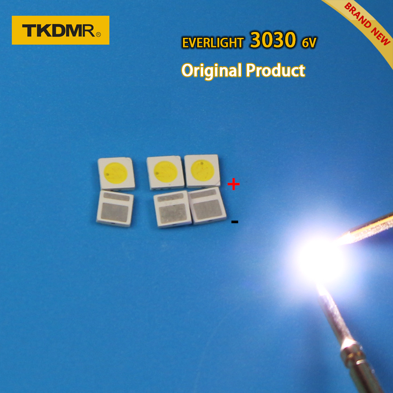 TKDMR 120pcs Led Tv Backlight 1.8W 3030 6V Kit Electronique Led Led For Lcd Tv Repair Assorted Pack Kit Cool White Free Shipping