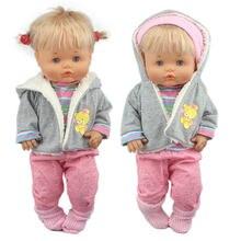 Adorável roupas de inverno terno para caber 42 cm nenuco boneca 17 Polegada nenuco y su hermanita boneca acessórios