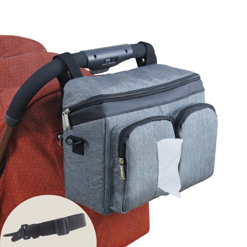 Baby Stroller Bag Organizer Mummy Diaper Bag Infant Toddler Travel Nappy Diaper Bag Multifunctional Mummy Bag