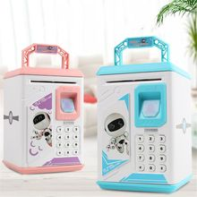 Mini ATM Electronic Coin Bank Smart Electronic Piggy Bank Safe with Password Kids Children Pretended Play Toys