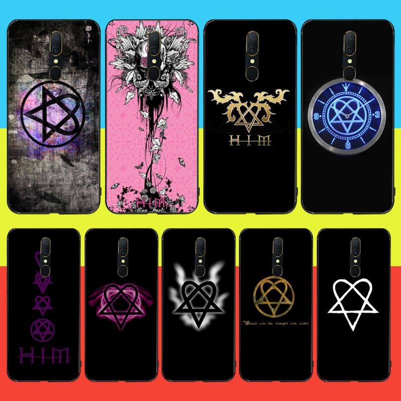 CUTEWANAN Him Heartagram Custom Photo Soft Phone <font><b>Case</b></font> For <font><b>Oppo</b></font> <font><b>A5</b></font> A9 <font><b>2020</b></font> Reno Z Realme5Pro R11 <font><b>case</b></font> image