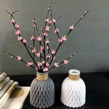 Wazon na kwiaty dekoracji domu wazon plastikowy imitacja ceramiczna doniczka na kwiaty kosz na kwiaty układ dekoracja nordycka Ornament